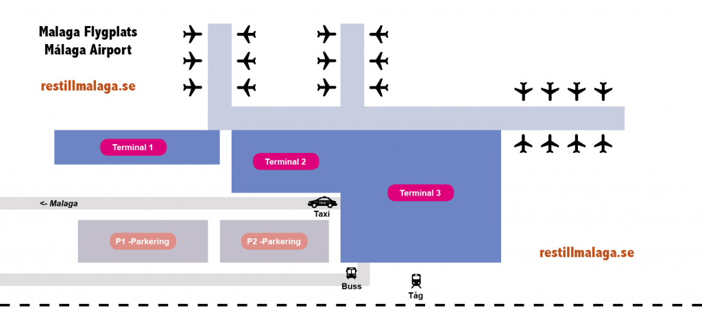 karta malaga flygplats